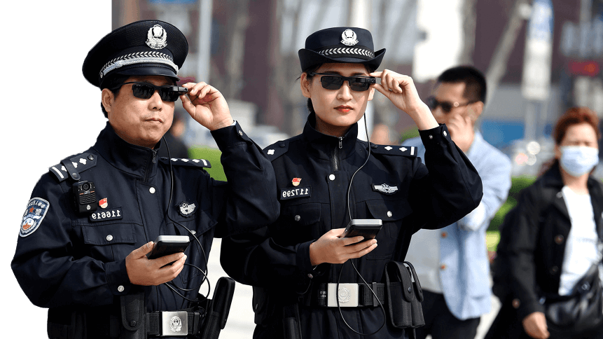china facial recognition police glasses