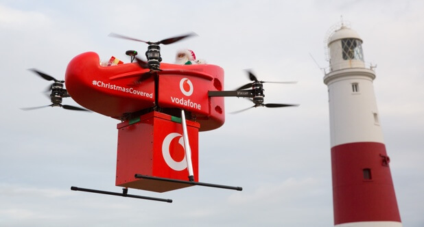 UK's first drone delivery over 4G network.