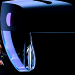 "Microsoft's technical fellow Alex Kipman reveals ""HoloLens 2"" during a presentation at the Mobile World Congress (MWC)"