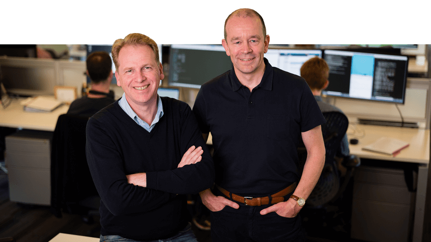 Graphcore's co-founders Nigel Toon (CEO) & Simon Knowles (CTO)