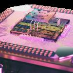 3D render of quantum processor