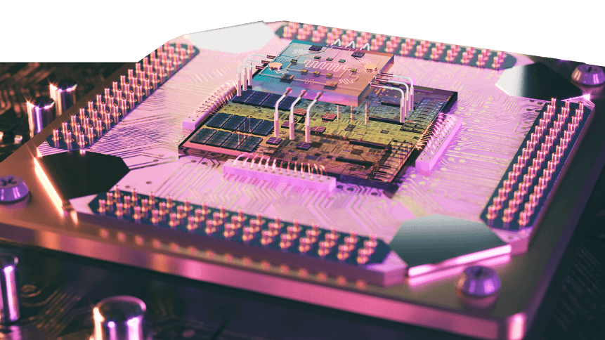 3D render of quantum processor