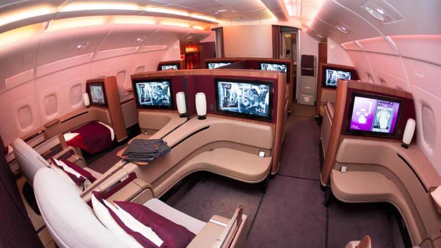 Qatar Airways Airbus A380 first class luxury seats