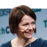 Poppy Gustafsson, co CEO of Darktrace. Source: AFP