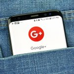 Google Plus app on s8 screen