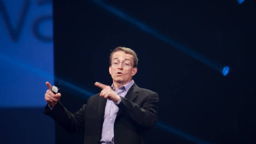CEO VMware Pat Gelsinger makes speech at EMC World 2014