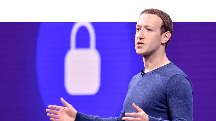 Mark Zuckerberg speaks during the annual F8 summit