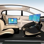 Autonomous car workspace concept