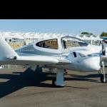 A Diamond DA42 aircraft, as used in the autonomous plane test.