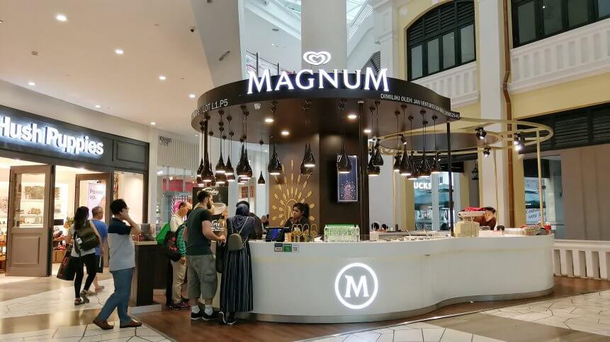 Magnum demonstrates pop up retail