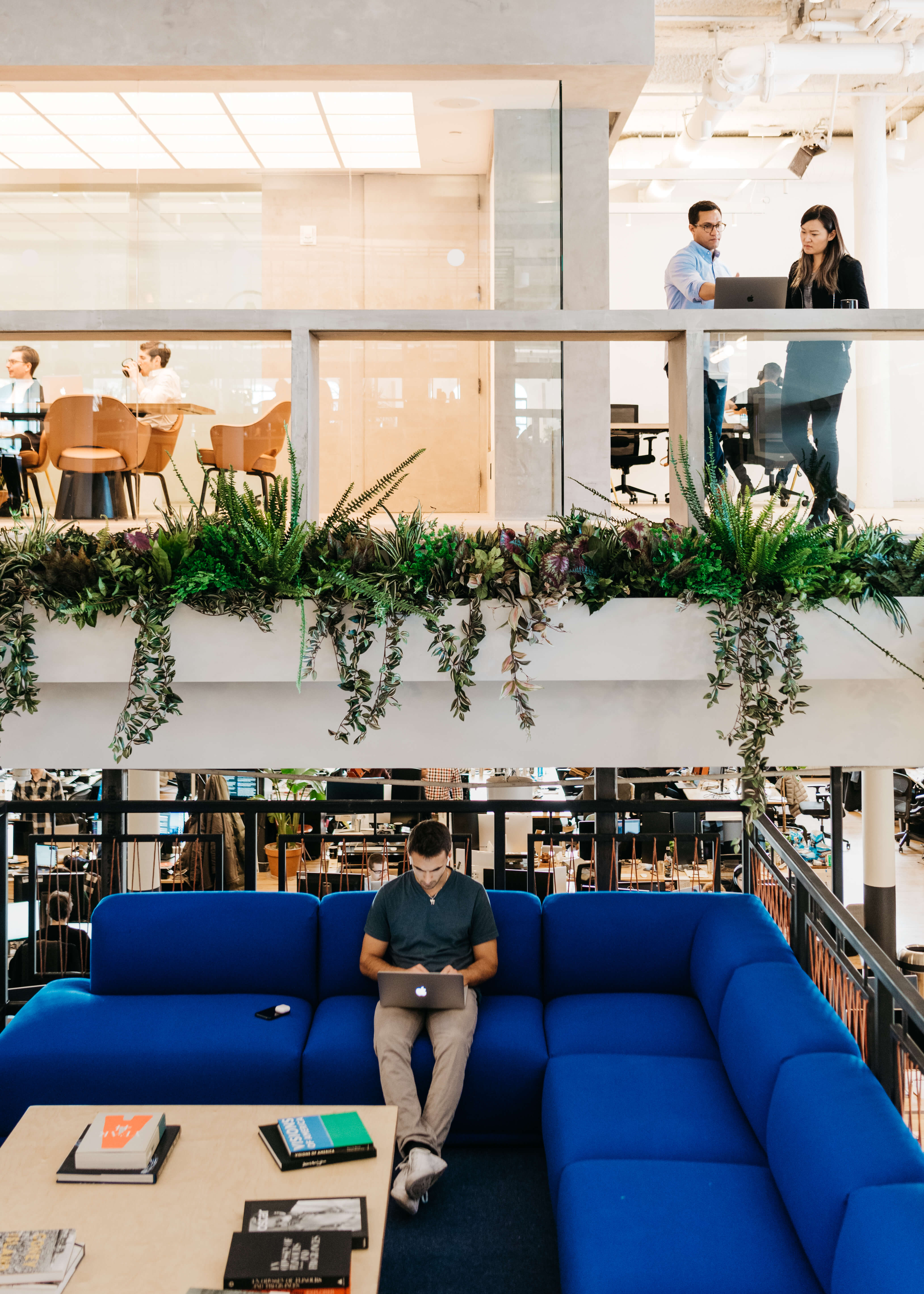 Co-working firm WeWork's New York headquarters.