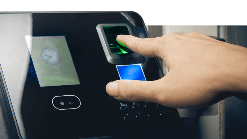 A biometric security finger print scanner