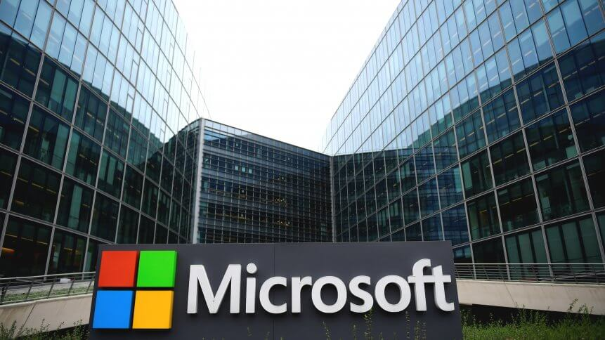 French headquarters of US multinational technology company Microsoft