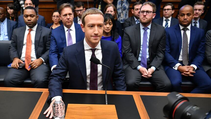Facebook Chairman and CEO Mark Zuckerberg arrives to testify before the House Financial Services Committee