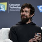 Twitter CEO Jack Dorsey speaks during a press event at CES 2019