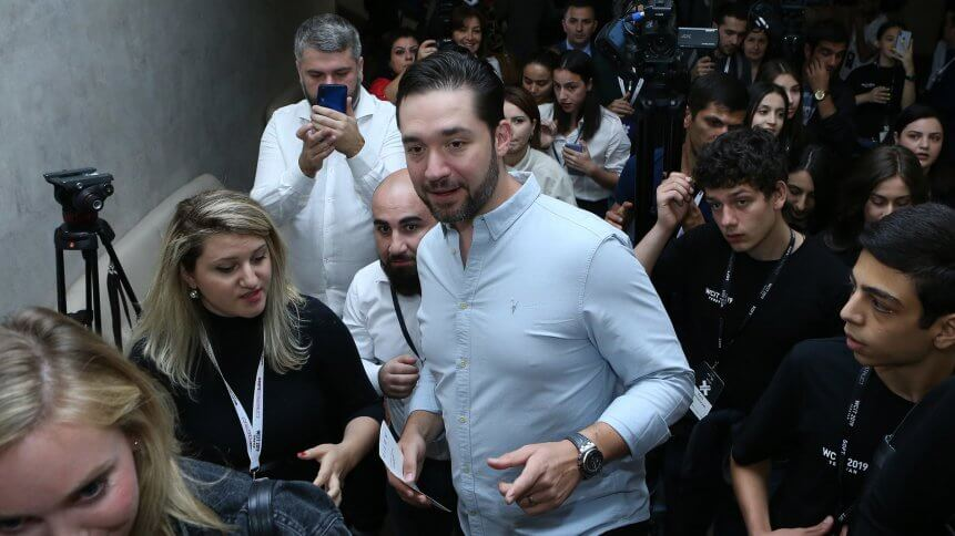 Reddit Co-Founder Alexis Ohanian arrives at WCIT 2019