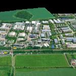 Aerial view of Milton Park.