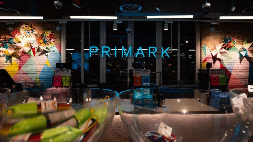 Primark store interior view in Gran Via, Madrid.