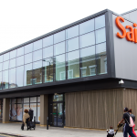 The exterior of a Sainsbury's supermarket