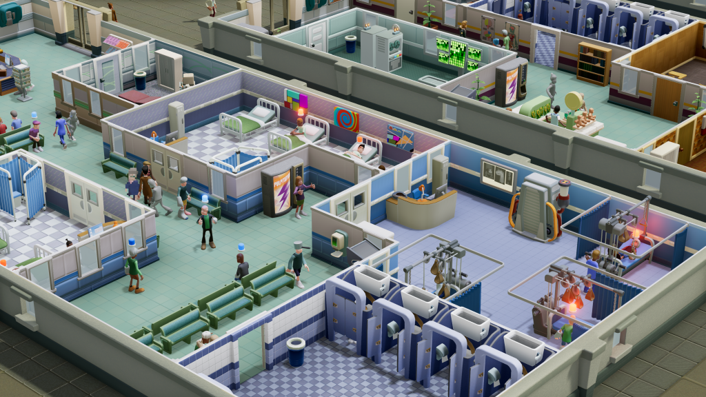 A gameplay screenshot from SEGA title Two Point Hospital