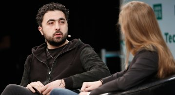 DeepMind co-founder Mustafa Suleyman at TechCrunch Disrupt London, 2016