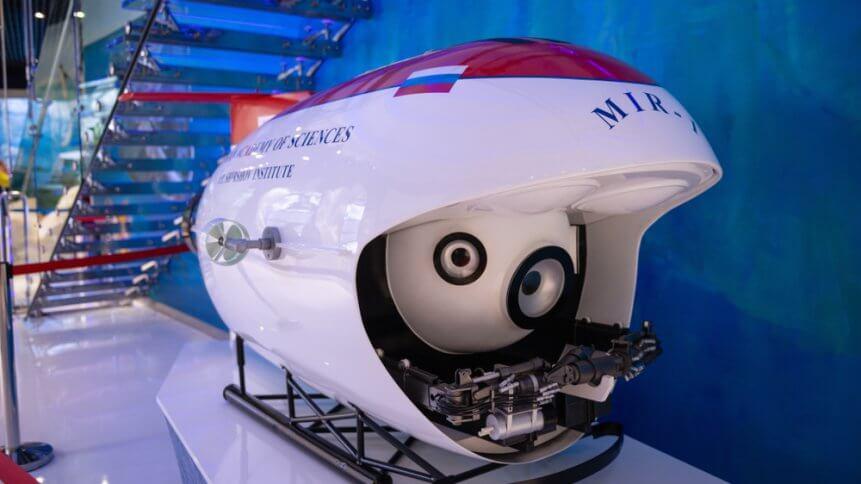 """Model of the bathyscaphe """"Mir-1""""in Oceanarium in Vladivostok"""