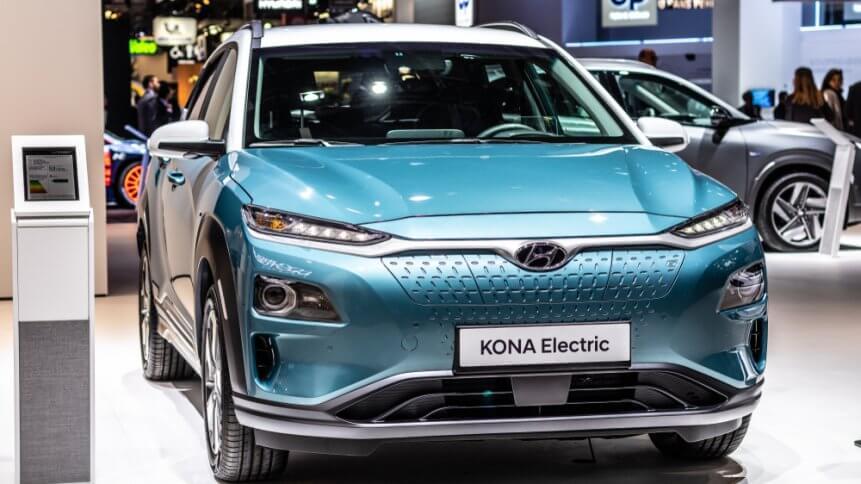 Hyundai Kona Electric at Mondial Paris Motor Show