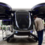 The Bell Nexus concept vehicle shown at the Uber Elevate Summit, 2019